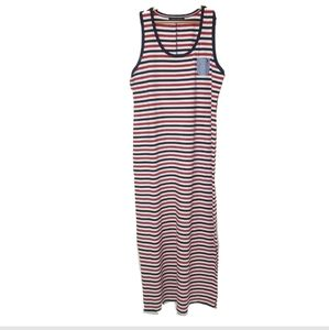 Tommy Hilfiger maxi dress nautical striped red